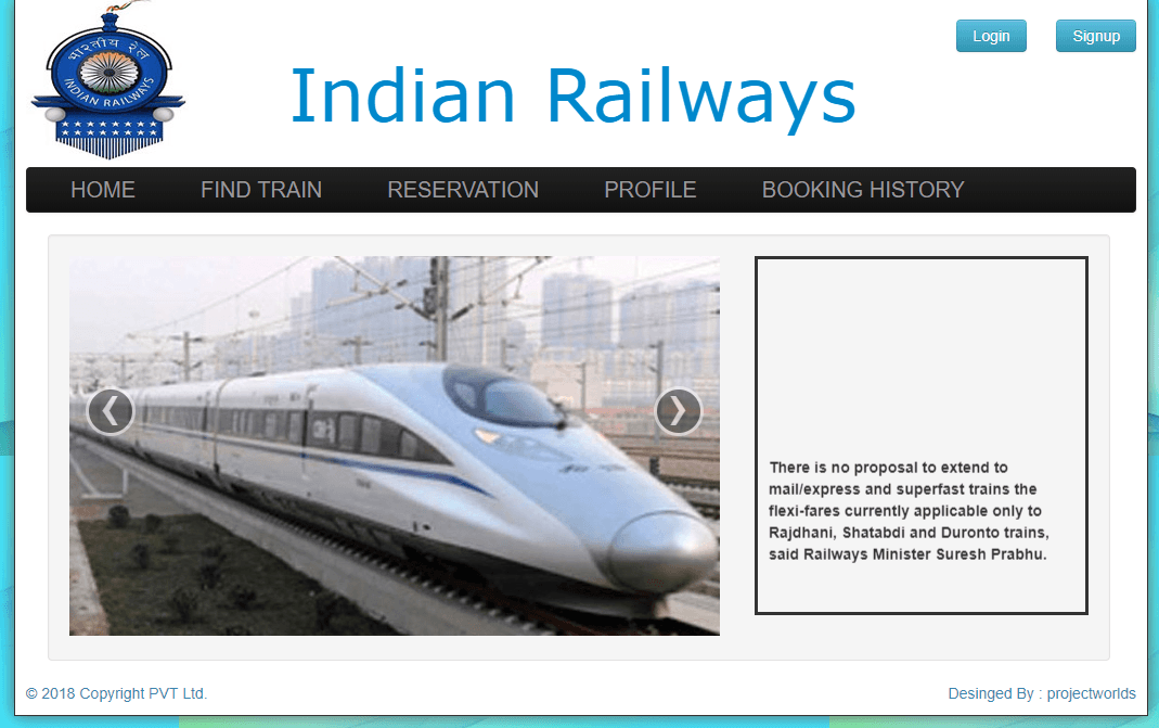 railway reservation system Irctc next generation eticketing system.