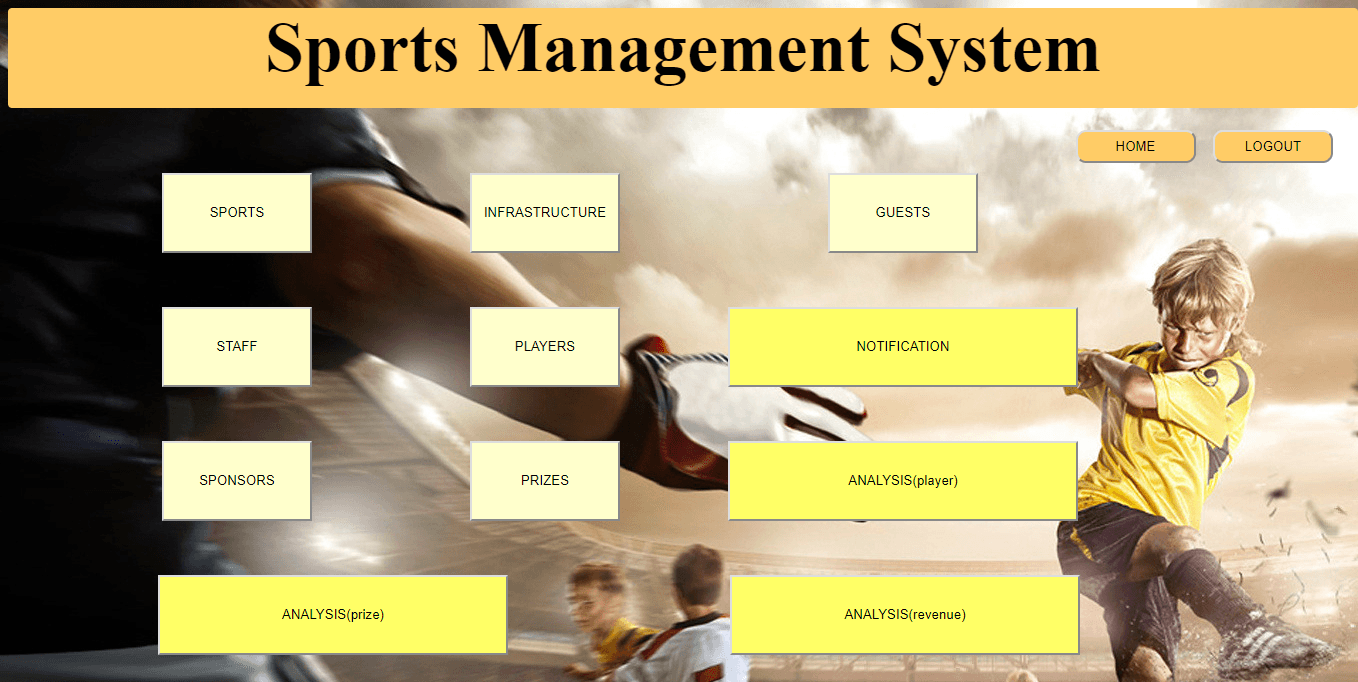 Sports Management System Project In Java Projectworlds