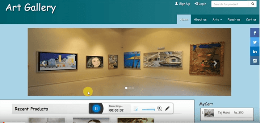 art gallery free php