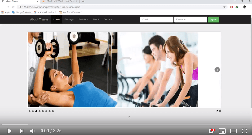 gym management system php