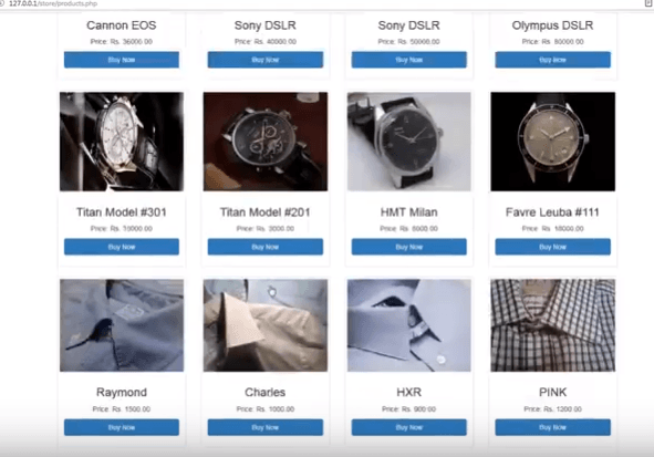 online shopping php