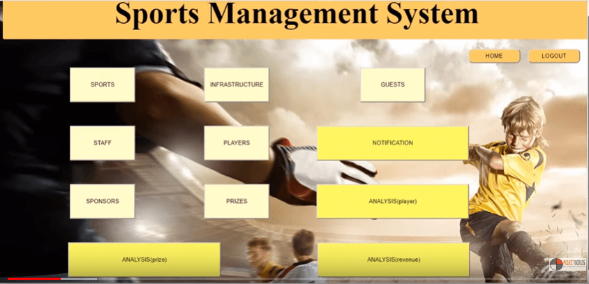sport management system java
