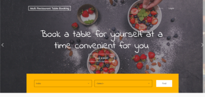 Restaurant Table Reservation System in Php
