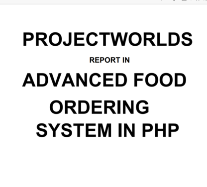 Online Food Ordering System In PHP | Advance