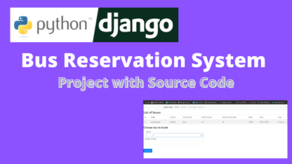 Bus Reservation System Project Python Django