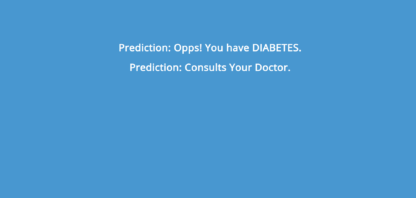Diabetes Prediction using Machine Learning Project Code