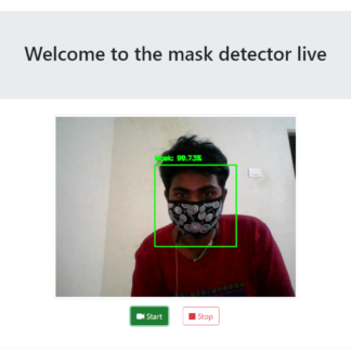 Live Face Mask Detection Project in Machine Learning