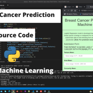 Breast Cancer Prediction Machine Learning Source Code